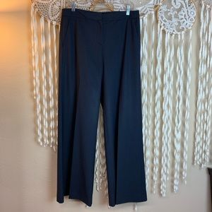 Theory Navy Wide Leg Wool Slacks/Trousers Size 10